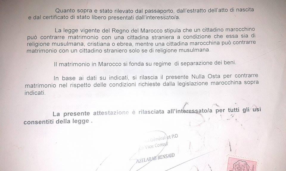 Matrimonio Procura : Il matrimonio misto italia marocco procedura completa